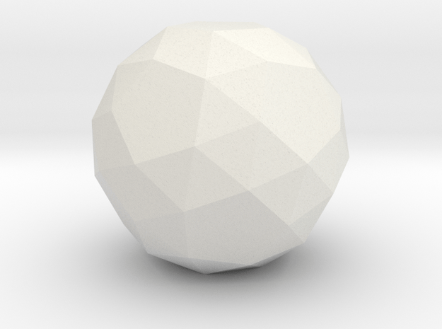 Snub Dodecahedron in White Natural Versatile Plastic: Small