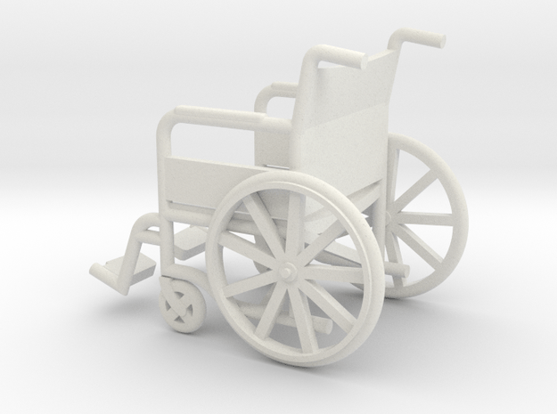 1:20 Wheelchair in White Natural Versatile Plastic