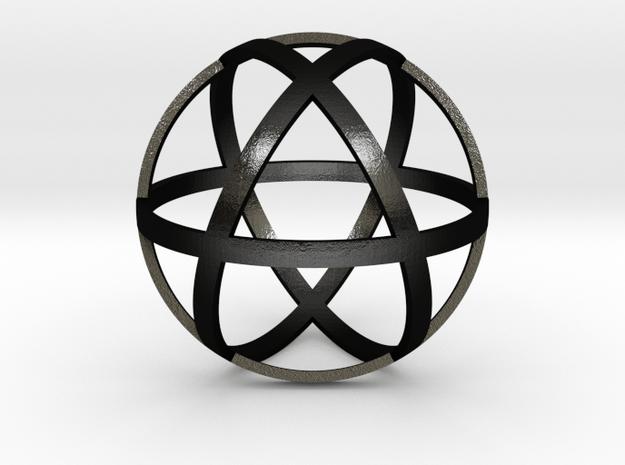 Genesa Crystal 50mm in Matte Black Steel