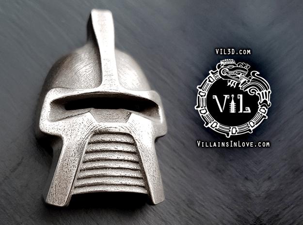 Cylon WAR-ERA Centurion Pendant ⛧VIL⛧ in Polished Bronzed-Silver Steel: Small
