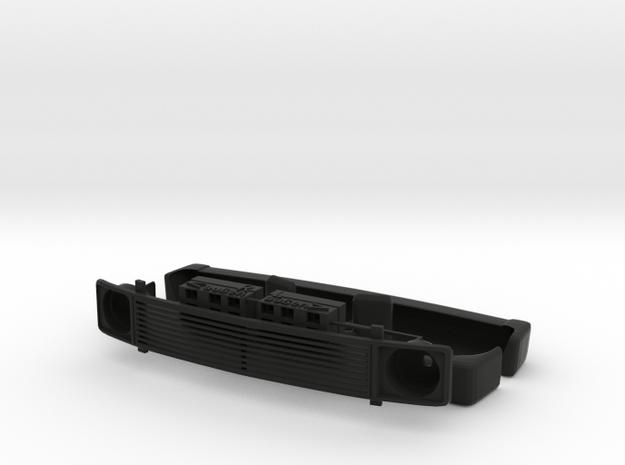 VW T 3 Frontgrill und Gehäuse Rückleuchten in Black Natural Versatile Plastic