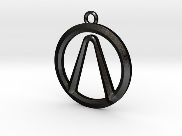 Borderlands Vault Icon in Matte Black Steel