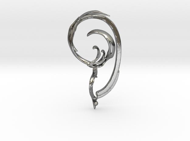 Fullcircle Earbone in Polished Silver