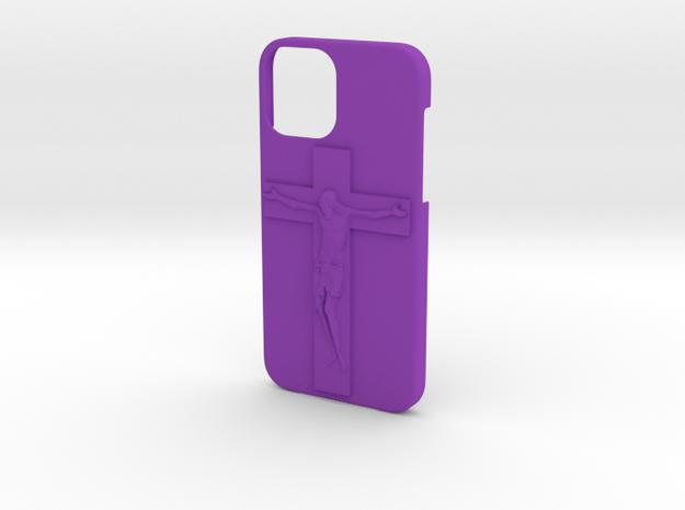 IPhone 12 Jesus Case in Purple Processed Versatile Plastic