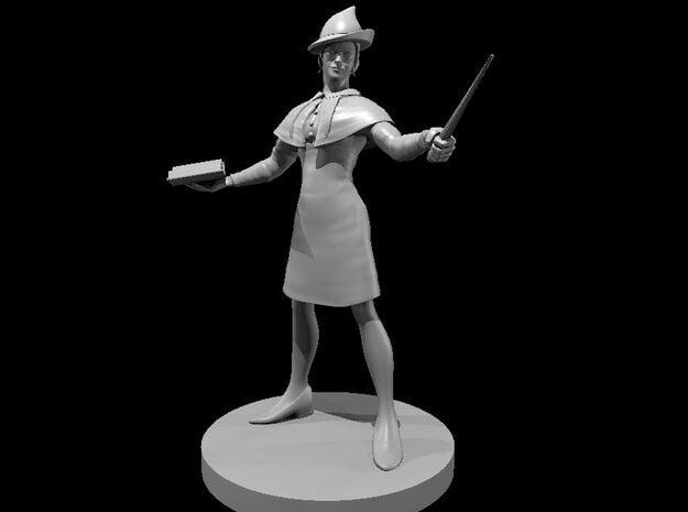 Elegant Human Female Wizard in Smooth Fine Detail Plastic