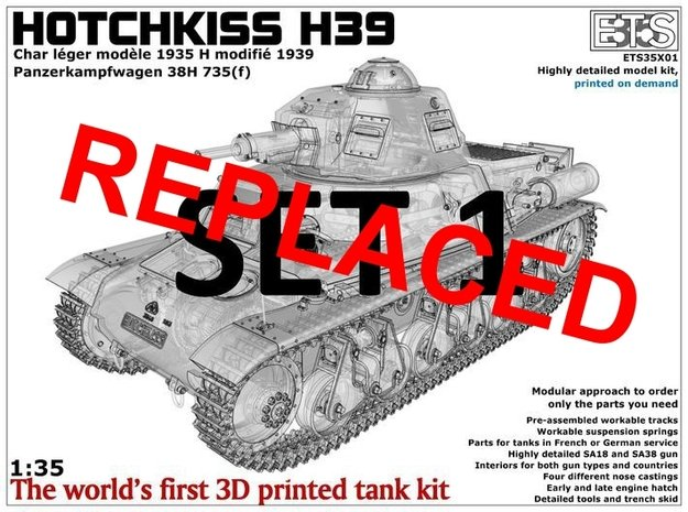 ETS35X01 Hotchkiss H39 - Set 1 in Smooth Fine Detail Plastic