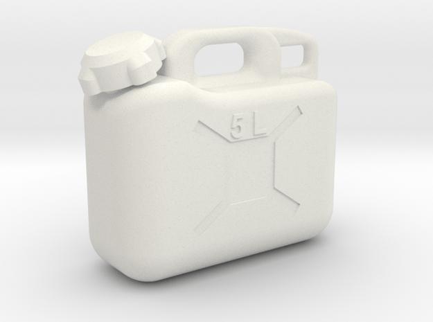 5 Ltr. Liter Jerry Can Fuel Kanister Kunststoff in White Natural Versatile Plastic