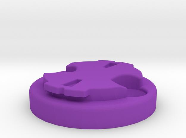 Garmin Varia Plate 0deg - M4 in Purple Processed Versatile Plastic