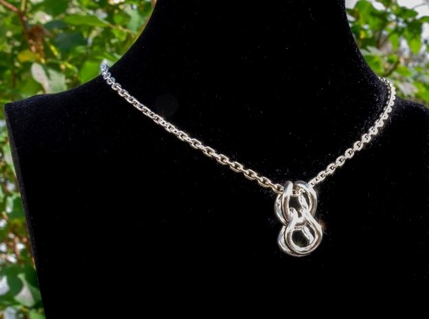 Curved loops [pendant] in Polished Silver