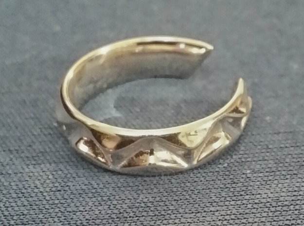 Shark teeth ring [sizable ring] in Polished Silver