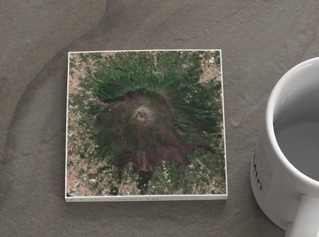 Mt. Vesuvius, Italy, 1:100000 in Natural Full Color Sandstone