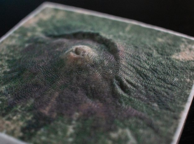 Mt. Vesuvius, Italy, 1:150000 in Natural Full Color Sandstone