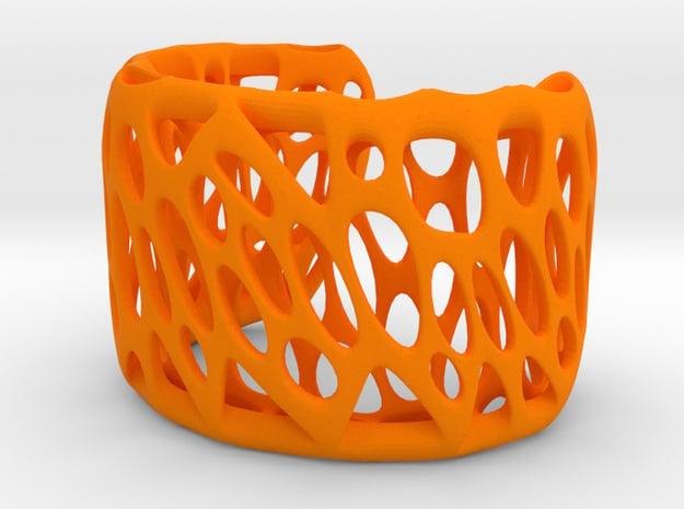 Bio Wired Bracelet in Orange Processed Versatile Plastic