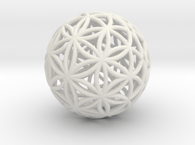 Special Edition 190mm Thick Flower Of Life in White Natural Versatile Plastic