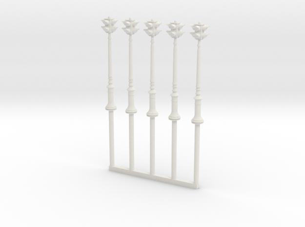 NYC Antique Traffic Light HO in White Natural Versatile Plastic: 1:87 - HO