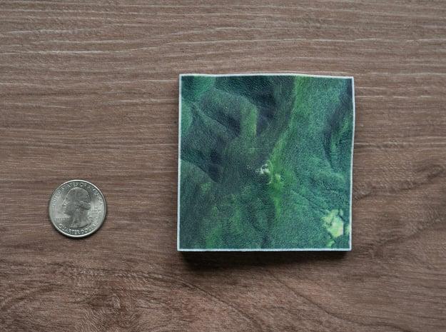 Mt. Greylock, Massachusetts, USA, 1:50000 in Natural Full Color Sandstone