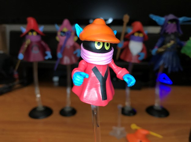 Hat for Yuckers (For use on Loyal Subjects Orko) in Orange Processed Versatile Plastic