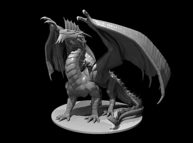 Ancient Silver Dragon in White Natural Versatile Plastic