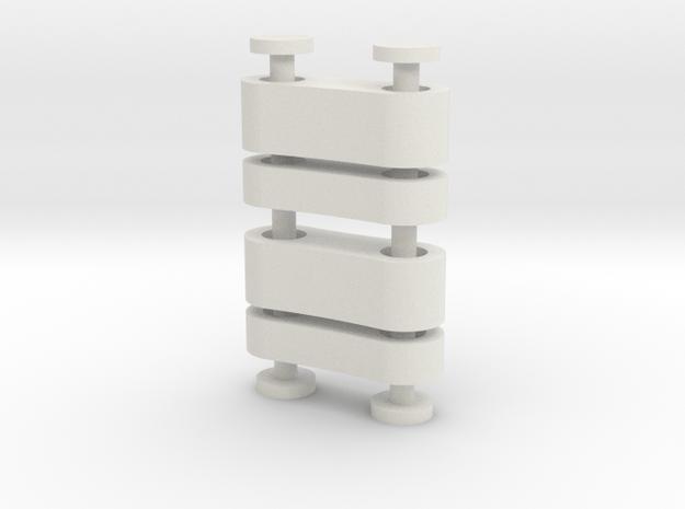 Servo Mount Spacers in White Natural Versatile Plastic