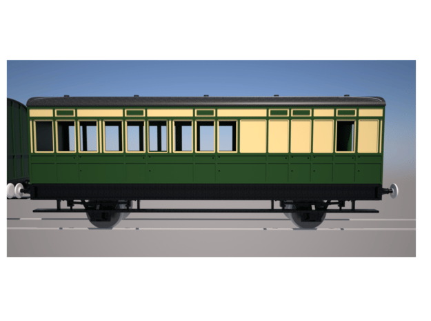 S1 Old Brake Coach in Smooth Fine Detail Plastic