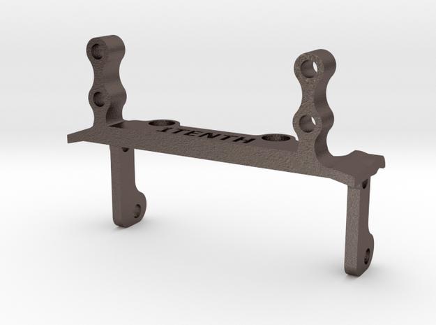 Metal HD Servo Mount Link Brace for Capra in Polished Bronzed-Silver Steel