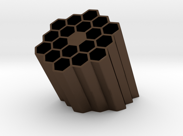 BeeHive Pencil Holder in Polished Bronze Steel