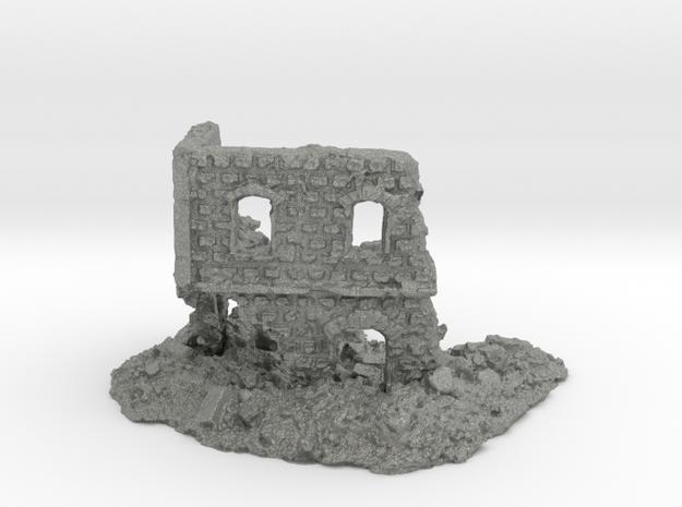 1/144 Stone Building Ruin Game/Diorama Base in Gray PA12