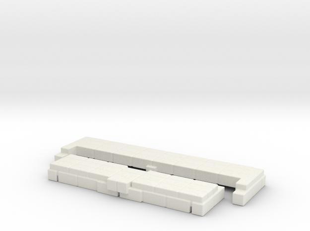 Brick Base for Snake Mountain Bone Throne in White Natural Versatile Plastic
