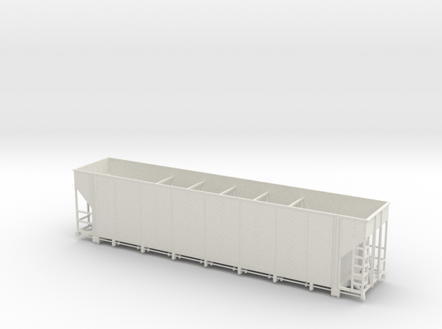 S-Scale Greenville 5400 (w/ coupler pockets) in White Natural Versatile Plastic