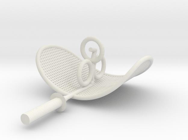 K-9 Mk1 Ear in White Natural Versatile Plastic