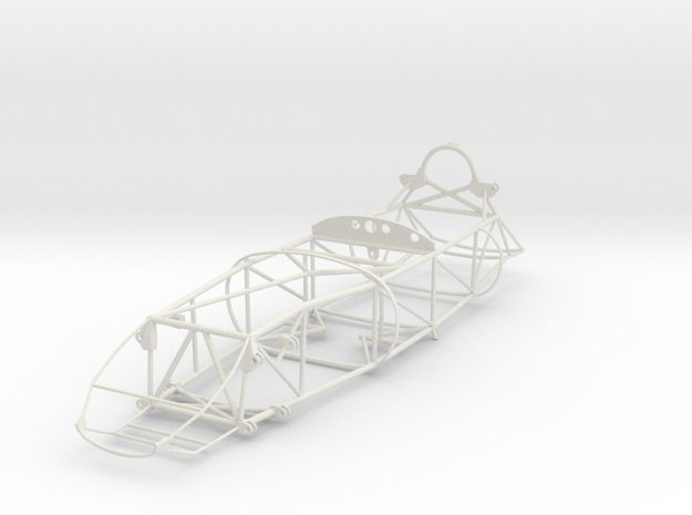 1/12 Lotus 16 spaceframe in White Natural Versatile Plastic