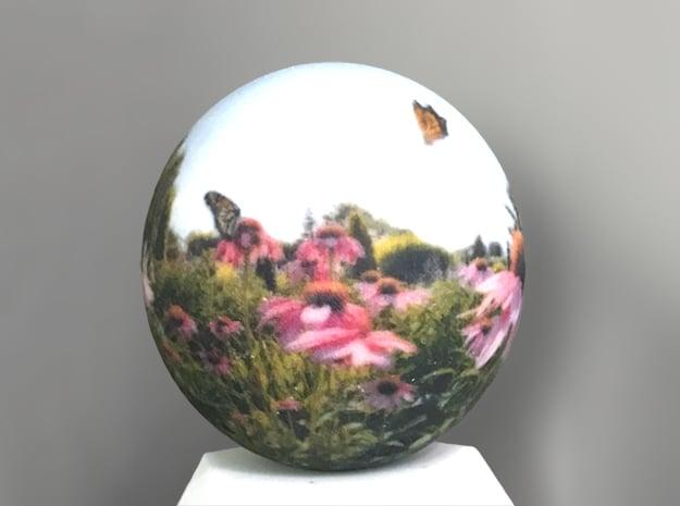 Panorama Ball 3 inch in Glossy Full Color Sandstone: Medium