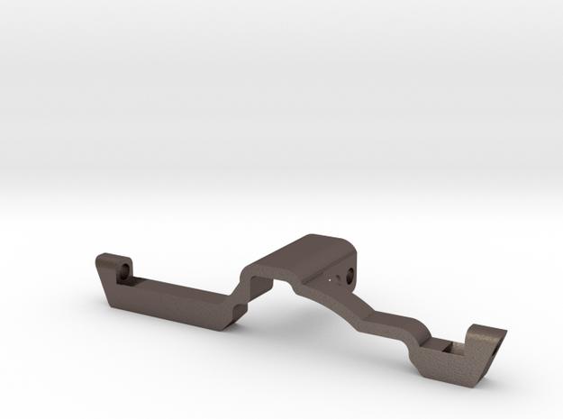 Metal Heavy Rear Truss for Redcat HD Portal Axle in Polished Bronzed-Silver Steel