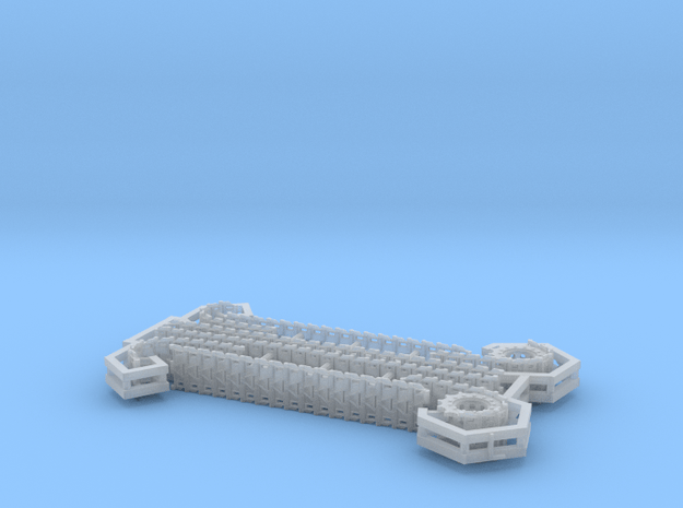 T72E1 tracks for M24 Chaffee 1/87 scale in Smooth Fine Detail Plastic
