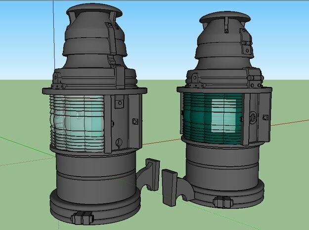 D&RGW Handlan Radial Class Lamps, Kerosene in Natural Bronze: 1:20