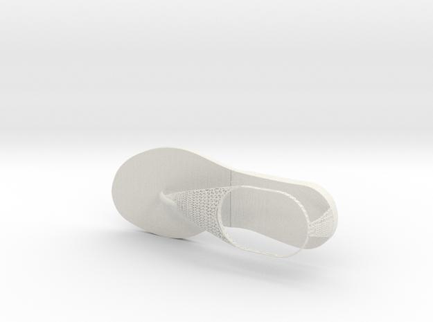 Sandle New 4 in White Natural Versatile Plastic