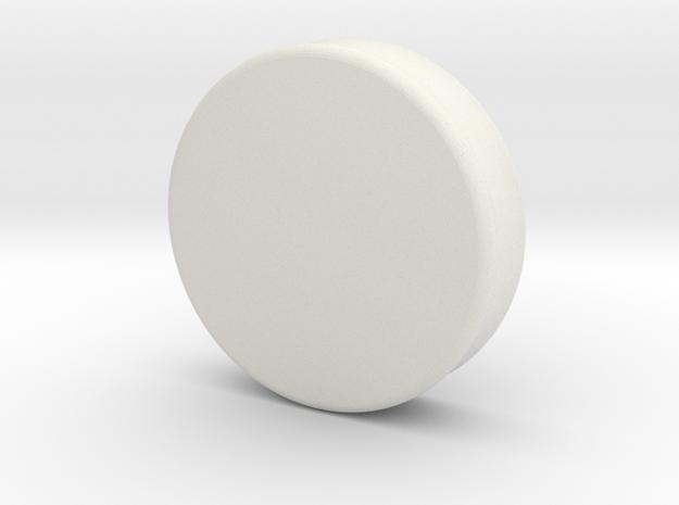 """Ear Gauge, 1 3/4""""-2"""" - Plug in White Natural Versatile Plastic: Medium"""