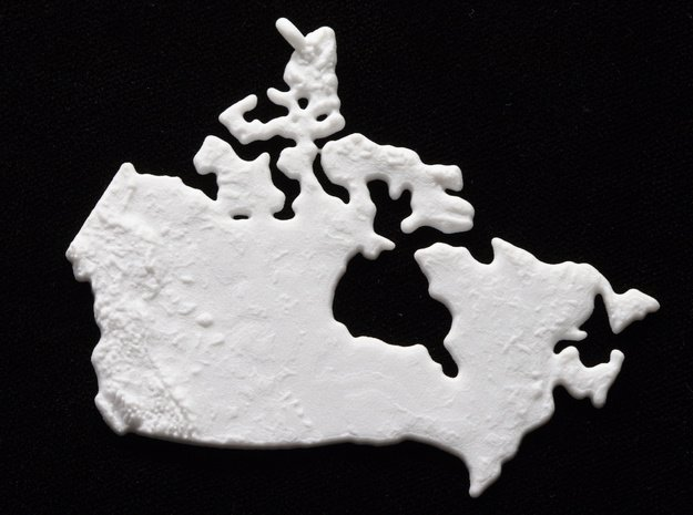 Canada Christmas Ornament in White Natural Versatile Plastic