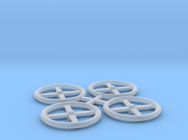 Early D&RG Brake Wheels in Smooth Fine Detail Plastic: 1:20