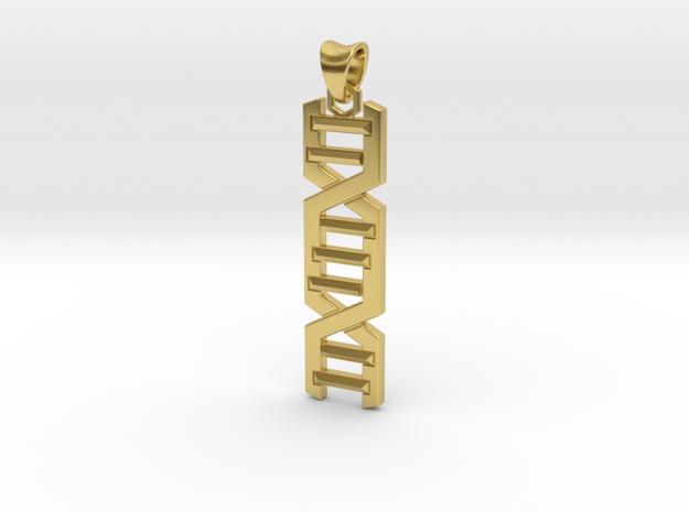 HELIX PENDANT in Polished Brass (Interlocking Parts)