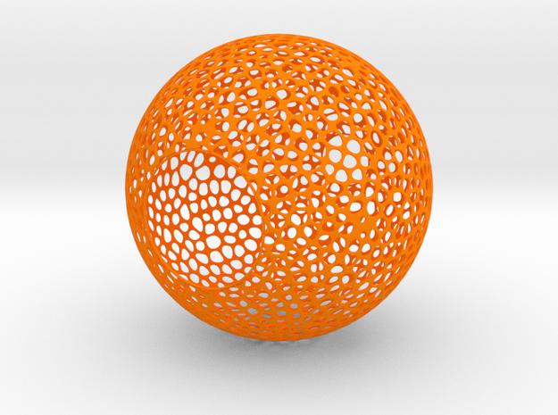 Lampshade (Sphere Vero 3) in Orange Processed Versatile Plastic