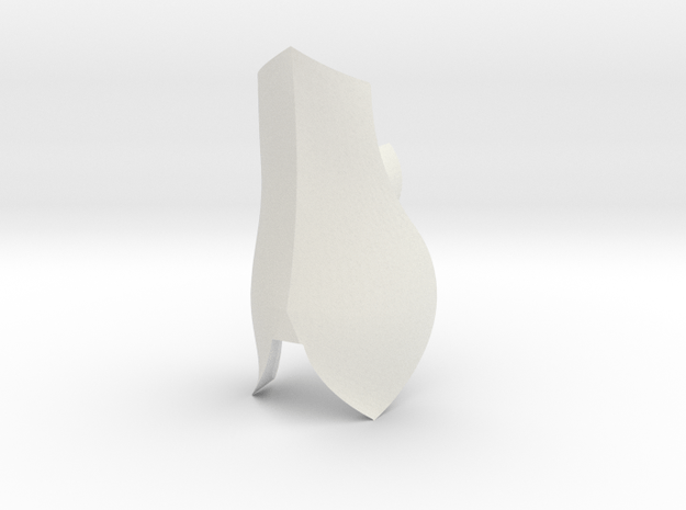 Large Shin 2   CCBS in White Natural Versatile Plastic