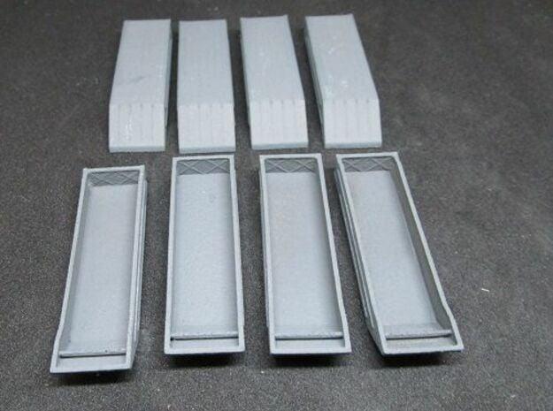 1/144 set of 8 German Pontoon type B in White Natural Versatile Plastic