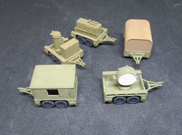 1/144 M7 trailer set US Army in White Natural Versatile Plastic