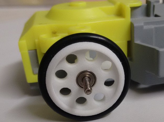 Auldey Race-tin Drag Front Wheel - 2mm Axle in White Natural Versatile Plastic