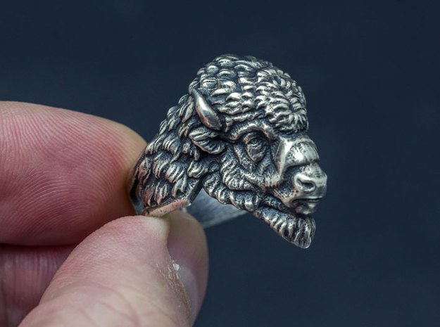 Bison Head Ring