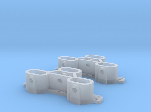 D&RGW Dual-Gauge 3-Way Coupler Pocket  in Smooth Fine Detail Plastic: 1:20