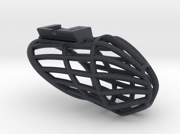 X3s Prison L= 80mm (3 1/8 inches) in Black PA12: Medium