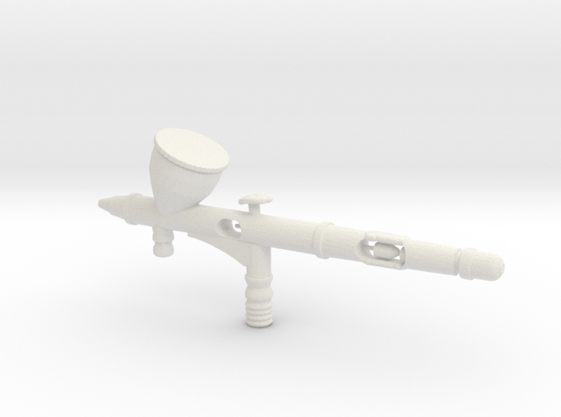1/3 Scale Airbrush  in White Natural Versatile Plastic