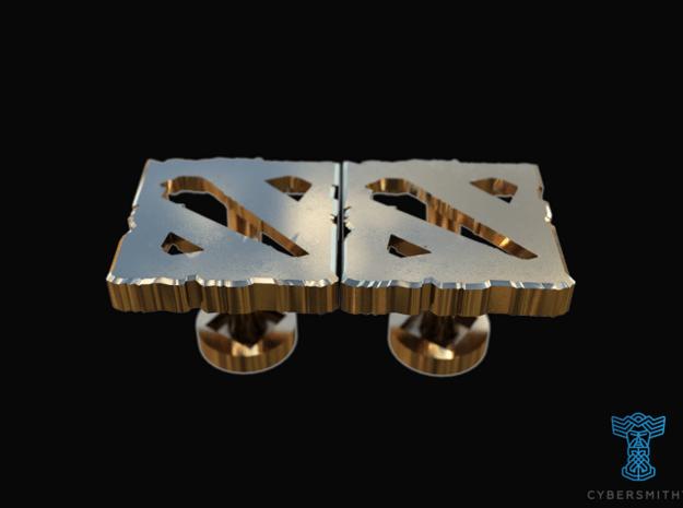 Dota 2 - Cufflinks in 14K Yellow Gold